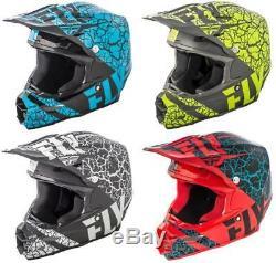 2018 Fly Racing F2 Carbon Fracture Helmet Motocross ATV Off Road Dirt Bike Adult