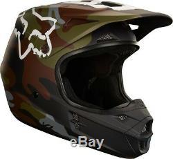 2018 Fox Racing V1 Green Camo Helmet MX Motocross Dirt Bike Off-Road ATV Adult