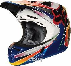 2018 Fox Racing V3 Kustm Helmet Motocross ATV Dirt Bike MTB 19517-922