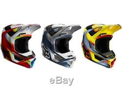 2019 Fox Racing V1 Motif Helmet Motocross ATV Dirt Bike MX Racing Adult 21775