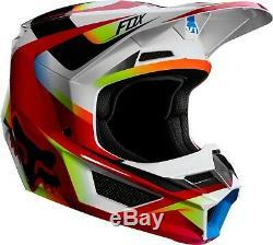 2019 Fox Racing V1 Motif Helmet Motocross ATV Dirt Bike MX Racing YOUTH 21784