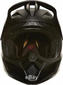 2019 Fox Racing V3 Matte Carbon Helmet Motocross ATV Dirt Bike MTB UTV