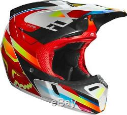 2019 Fox Racing V3 Motif Helmet Motocross ATV Dirt Bike MTB 21767-080
