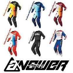 2021 Answer Racing Dirt Bike Gear Elite Motocross Pants Jersey MX Off Road Atv