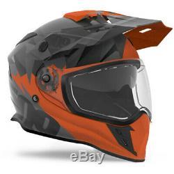509 Orange/Grey Delta R3 Orange Dirt Bike Helmet with Fidlock Offroad UTV ATV MX