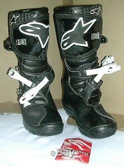 ALPINESTARS NO STOP Motocross BOOTS Dirt Bike ATV Off Road Mens Size 9 EUC