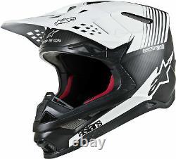 ALPINESTARS Supertech M10 Dyno MX Dirt ATV Helmet BLACK WHITE