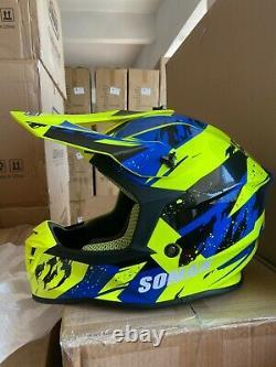 Adult ATV Motocross Dirt Bike Motorcycle Full Face MX Off-Road DOT&ECE Helmet