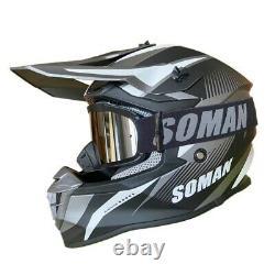 Adult ATV Motocross Dirt Bike Motorcycle Full Face Off-Road DOT&ECE Sport Helmet