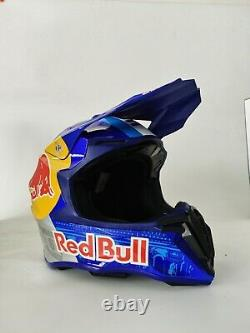 Adult Full Face Helmet ATV BMX MX Dirt Bike Red Bull Blue Motocross Racing Sport