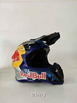 Adult Full Face Helmet ATV BMX MX Dirt Bike Red Bull Motocross Racing Sport L XL
