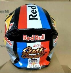Adult Motocross Helmet ATV Red Bull Motorcross MX BMX Dirt Bike Racing White