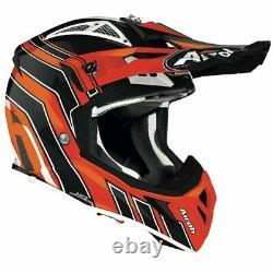 Airoh Aviator Ace Art Orange Gloss Motocross MX Enduro Dirt Bike Atv Quad Helmet
