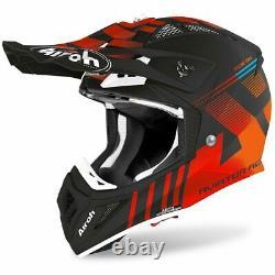 Airoh Aviator Ace Nemesi Orange Matt Motocross MX Enduro Dirt Bike Atv Helmet