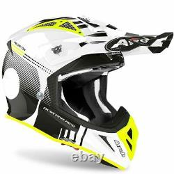 Airoh Aviator Ace Nemesi White Gloss Motocross MX Enduro Dirt Bike Atv Helmet