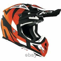 Airoh Aviator Ace Trick Orange Matt Motocross MX Enduro Dirt Bike Atv Helmet