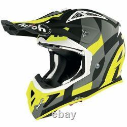 Airoh Aviator Ace Trick Yellow Matt Motocross MX Enduro Dirt Bike Atv Helmet