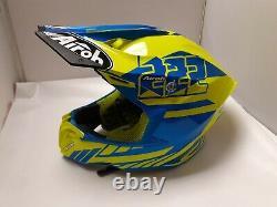 Airoh Twist 2.0 Motocross Helmet MX Dirt Bike Cairoli Adult Medium Blue Yellow