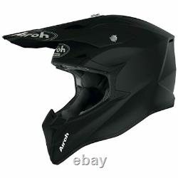 Airoh Wraap Black Matt Motocross MX Enduro Motorcycle Dirt Bike Atv Quad Helmet