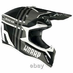 Airoh Wraap Broken Anth Matt Motocross MX Enduro Motorcycle Dirt Bike Atv Helmet