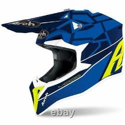 Airoh Wraap Mood Blue Gloss Motocross MX Enduro Motorcycle Dirt Bike Atv Helmet