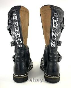 Alpinestars Boots Mens Sz 12 BLACK MX Motocross Dirt Bike ATV Gear Brown Suede