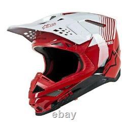 Alpinestars Supertech M10 Dyno ATV Dirt MX Helmet RED WHITE