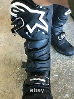 Alpinestars Tech 7 Boots SIZE 11 BLACK MX Motocross Dirt Bike ATV Mens Gear
