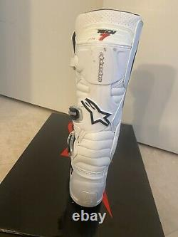 Alpinestars Tech 7 Boots SIZE 11 White MX Motocross Dirt Bike ATV Mens Gear