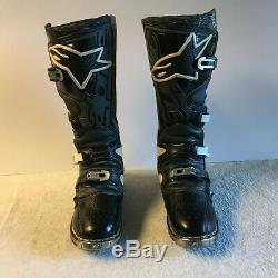 Alpinestars Tech 8 Black Motorcycle ATV Boots Mens Size 8 Motocross Dirt Bike