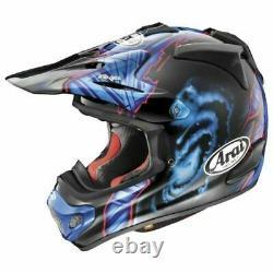 Arai VX Pro 4 Barcia Black Blue Motocross MX Dirt bike helmet L LG LARGE