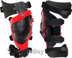 Asterisk Cell Knee Braces Pair Motocross MX Dirt Bike Off Road ATV Quad Enduro