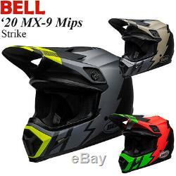 BELL 2020 MX-9 Mips Strike Helmet Off-Road/MX/ATV/Motocross/Dirt Bike 711037