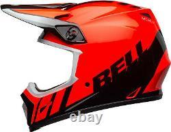 BELL MX-9 Dash Gloss Orange & Black Mips Motocross MX Dirt Bike Helmet Size XL