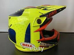 Bell Moto 9 Flex Carbon Motocross Dirt Bike Off Road Helmet Yellow Small