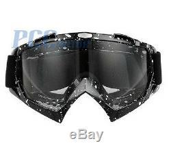 Black White Dots Dirt Bike Atv Motorcycle Goggle Motocross I Goggle-black Dots
