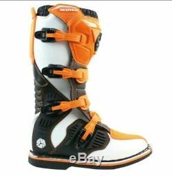 Botas de motocross Scoyco Off-Road Cuero MX Enduro Dirt PITbike ATV Quad zapatos