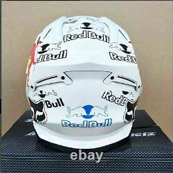 DOT Motorcycle Motocross Full Face Helmet Red Bull White For Dirt Bike MX ATV