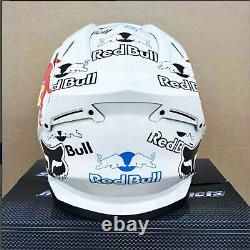 DOT Motorcycle Motocross Full Face Helmet Redbull White For Dirt Bike MX ATV