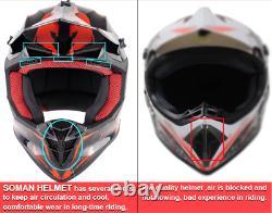 Dirt Bike Helmet Adult Motocross ATV Off-Road Motocross Helmets With Goggles New