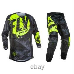 FLY FISH MX Racing jersey Suit Pants Off-Road Motocross Dirt Bike ATV Men Gear