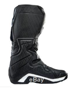 FOX COMP 8 Motocross boots NEW US#8 BLACK Off Road ATV Dirt bike MX rrp$399