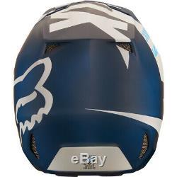 FOX FOX V2 Helmet Mastar Matte Navy Off-Road/MX/ATV/Motocross/Dirt Bike 19529