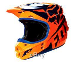 FOX V1 Motocross Helmet NEW KTM Orange XL 2XL Dirt Bike MX ATV Race Off Road