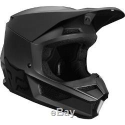 FOX Youth V1 Offroad HELMET Matte Black YM MX/ATV/Motocross/Dirt Bike 21830-255