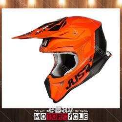 Fiberglass ATV Dirt Bike MX Motocross Helmet Gloss Orange Pulsar White Black L
