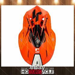 Fiberglass ATV Dirt Bike MX Motocross Helmet Gloss Orange Pulsar White Black S