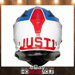 Fiberglass ATV MX Motocross Dirt Bike Helmet Gloss Blue Pulsar Blue Red White L