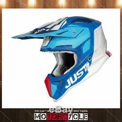 Fiberglass ATV MX Motocross Dirt Bike Helmet Gloss Blue Pulsar Blue Red White S