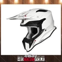 Fiberglass Motorcycle Off Road ATV Dirt Bike MX Motocross Helmet Gloss White XL